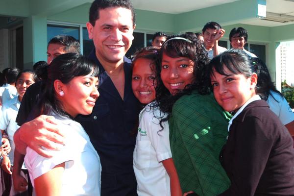 con estudiantes