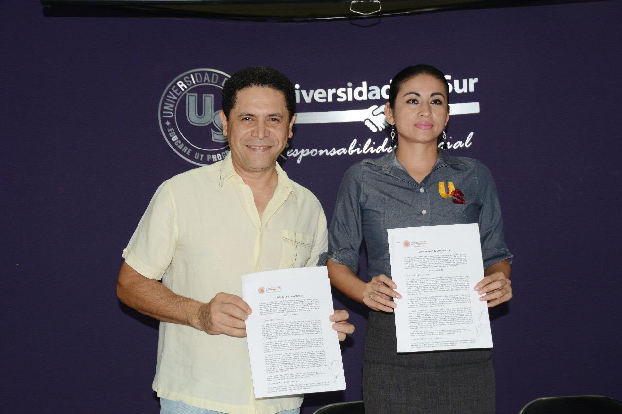 UNIVERSIDAD DEL SUR Y PES FIRMAN CONVENIO DE BECAS Y COLABORACIÓN.